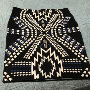 Gorgeous modern native Print skirt